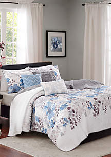 Madison Park Malone 6-Piece Quilted Coverlet Set