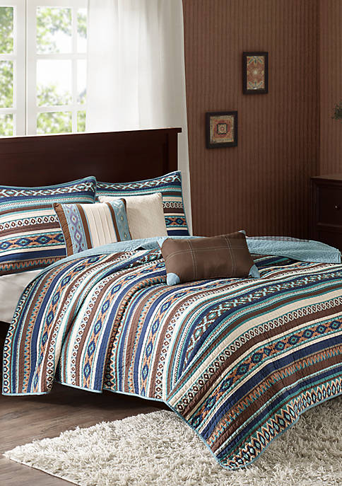 Madison Park Luna 6-Piece Quilted Coverlet Set