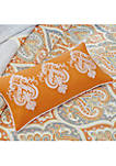 Nisha 6-Piece Quilted Orange Coverlet Set