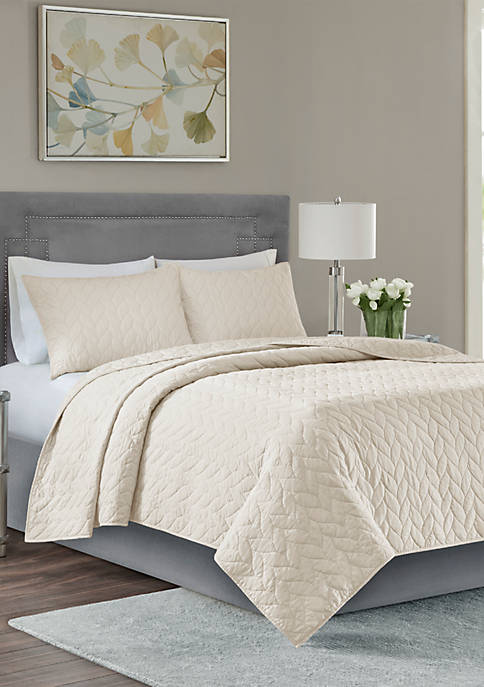 Madison Park Noel 3-Piece Coverlet Ivory Set