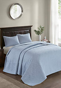 Madison Park Quebec 3-Piece Blue Bedspread Set
