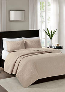 Madison Park Quebec 3-Piece Khaki Bedspread Set