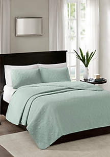 Madison Park Quebec 3-Piece Seafoam Bedspread Set