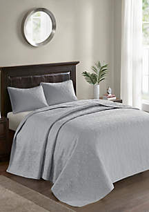 Madison Park Quebec 3-Piece Grey Bedspread Set