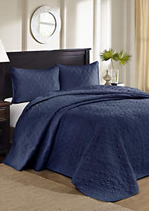 Madison Park Quebec 3-Piece Navy Bedspread Set