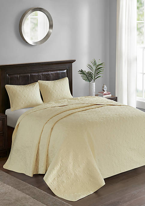 Madison Park Quebec 3-Piece Yellow Bedspread Set