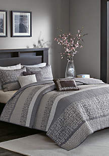 Madison Park Rhapsody 6-Piece Quilted Coverlet Set