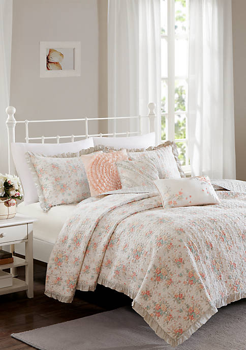 Madison Park Serendipity Cotton Percale Coverlet Set