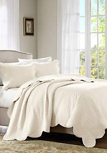 Madison Park Tuscany 3-Piece Ivory Coverlet Set