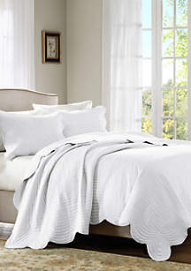 Madison Park Tuscany 3-Piece Coverlet Set- White