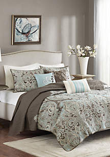 Madison Park Geneva 6-Piece Quilted Coverlet Set