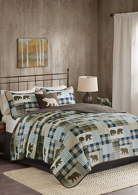 Twin Falls Oversized 4-Piece Quilt Set