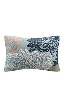 INK + IVY® Kiran Cotton Oblong Pillow with Chain Stitch