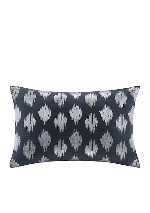 Nadia Dot Metallic Print Oblong Pillow