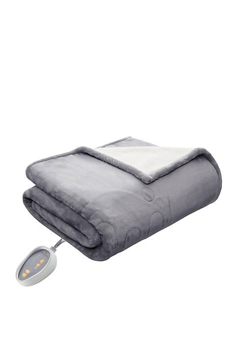 Heated Plush to Berber Blanket