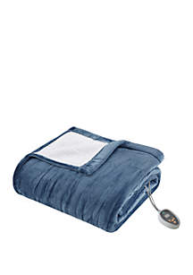 True North by Sleep Philosophy Ultra Soft Plush Reverses To Berber Heated Blanket with Bonus Automatic Timer