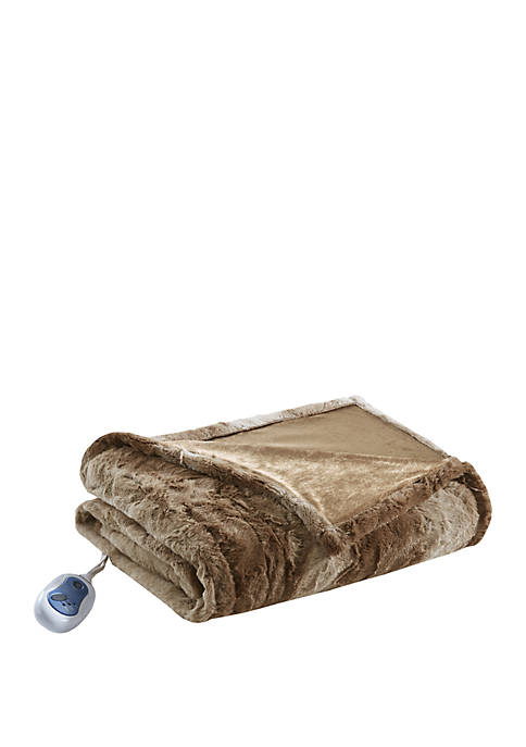 Beautyrest Zuri Oversized Faux Fur Heated Throw
