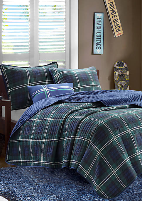 Brody Coverlet Set Blue