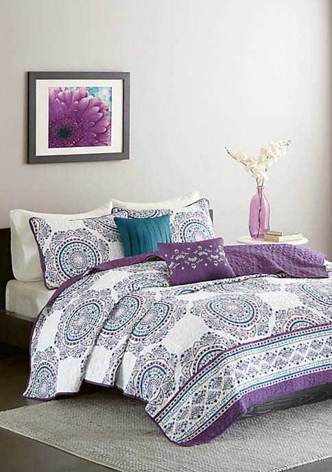 Anika Coverlet Set - Purple