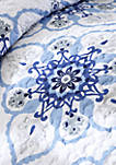 Cassy Coverlet Set - Blue