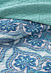 Intelligent Design Lionna Coverlet Set - Blue