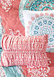 Loretta Coverlet Set - Coral