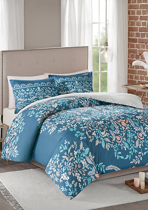 Madison Park Eden 3 Piece Cotton Printed Reversible