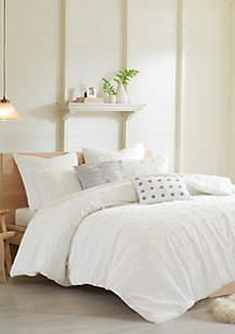 Urban Habitat Brooklyn Cotton Jacquard Duvet Cover Set