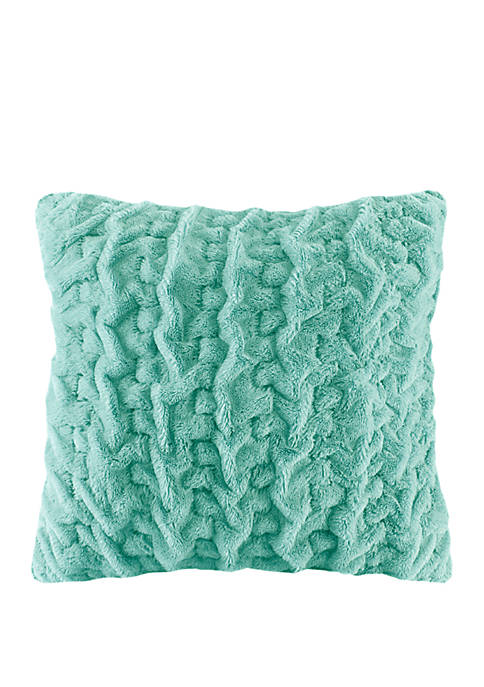 Madison Park Ruched Fur 25 in x 25