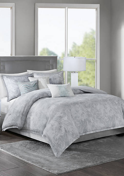 Madison Park Emory Cotton Sateen Duvet Set