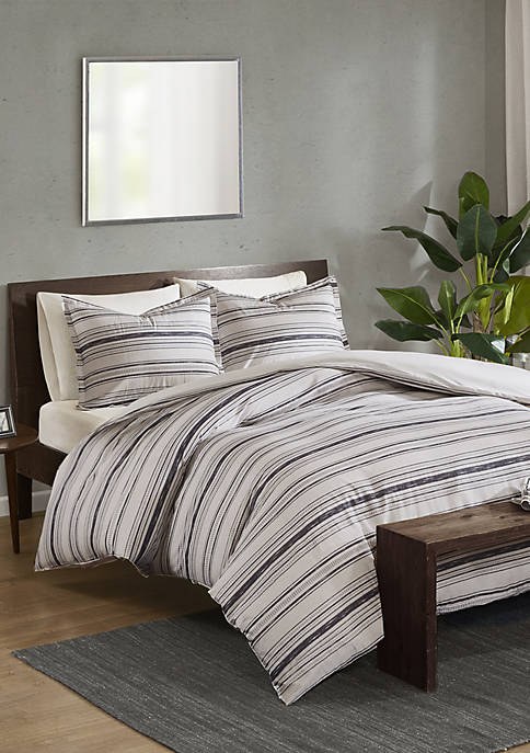 Madison Park Keegan 3 Piece Cotton Printed Duvet