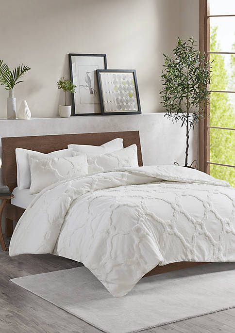Madison Park Pacey 3 Piece Tufted Cotton Chenille