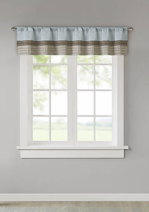Madison Park Amherst Polyoni Pintuck Window Valance