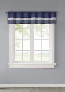 Madison Park Amherst Polyoni Pintuck Window Valance