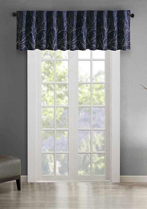 Madison Park Andora Faux Silk Embroidered Window Valance