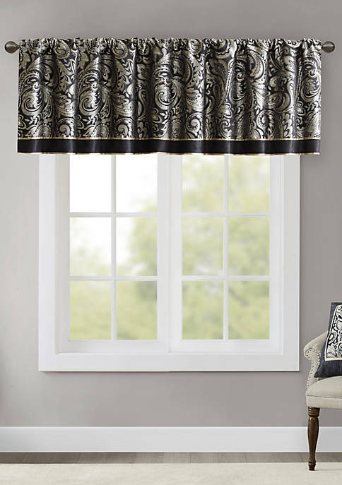 Madison Park Aubrey Jacquard Window Valance