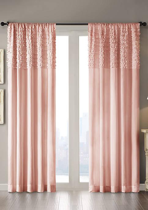 Madison Park Bessie Cotton Horizontal Ruffle Curtain