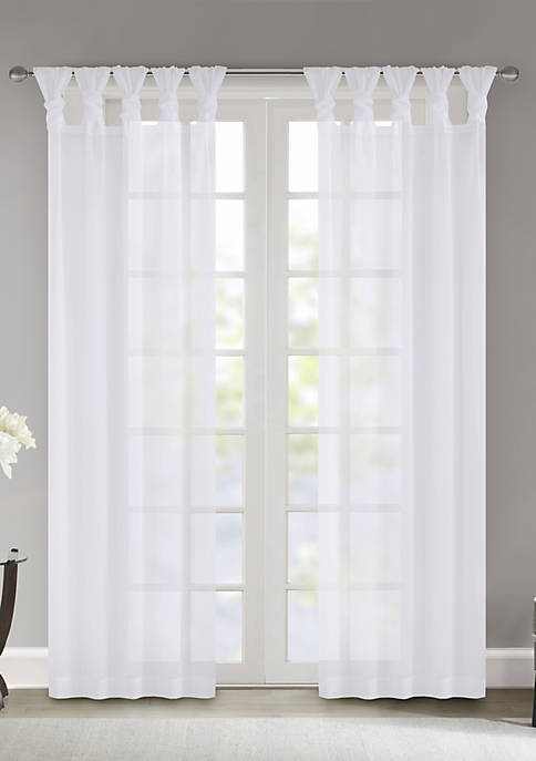 Madison Park Ceres Twist Tab Voile Sheer Window