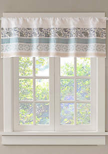 Madison Park Dawn Printed and Pieced Rod Pocket Valance