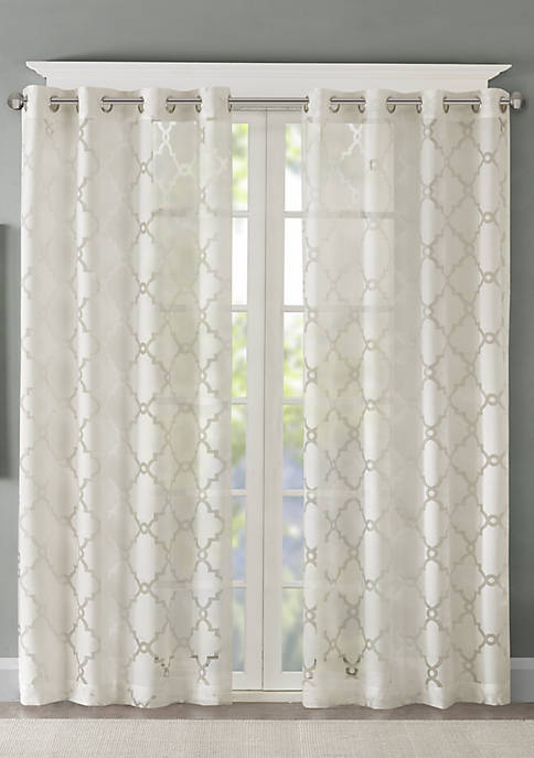 Eden Fretwork Burnout Sheer Panel