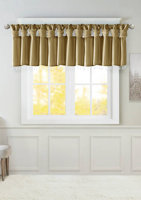 Madison Park Emilia Lightweight Faux Silk Valance With