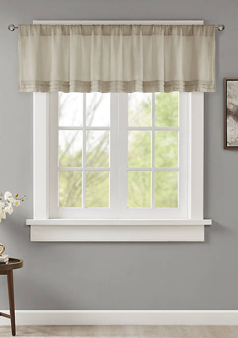 Madison Park Emily Faux Silk Solid Pleated Valance