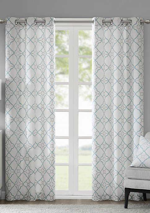 Madison Park Hayes Cotton Duck Printed Grommet Window