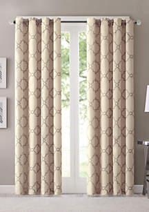 Madison Park Saratoga Fretwork Print Grommet Top Window Curtain