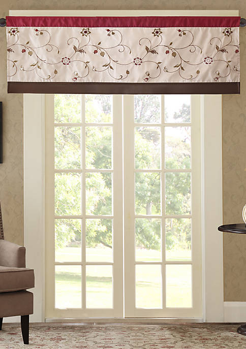 Madison Park Serene Embroidered Window Valance
