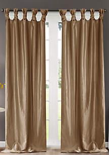Madison Park Emilia Twist Tab Lined Window Curtain