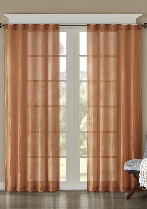 Madison Park Harper Solid Crushed Window Panel Pair