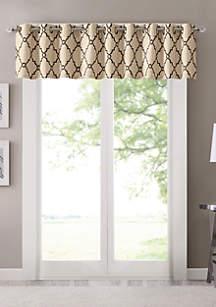 Madison Park Saratoga Fretwork Print Grommet Top Window Valance