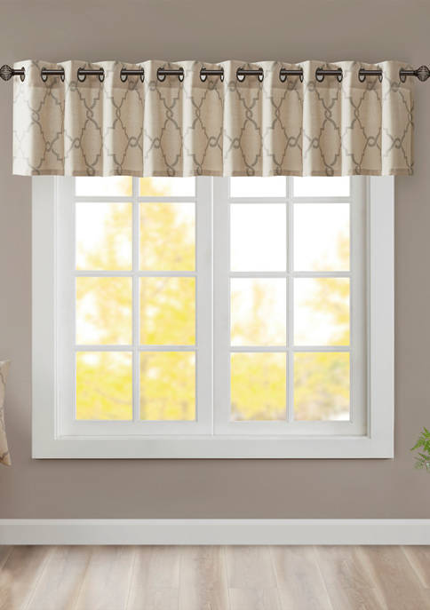 Madison Park Saratoga Fretwork Print Grommet Top Window