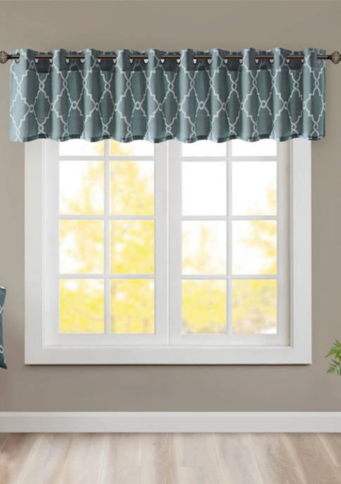 Madison Park Saratoga Fretwork Print Grommet Top Window